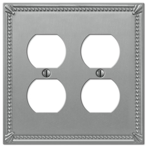 Creative Accents Brushed Nickel 2-Duplex Outlet Wall Plate Creative Accents Wall Plate