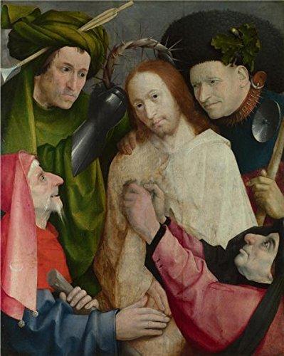 Oil painting 'Hieronymus Bosch-Christ Mocked ,1490-1500' pri
