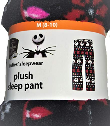 Disney Jack Skellington Nightmare Before Christmas Fleece Sleep Pants (L 12/14), Black