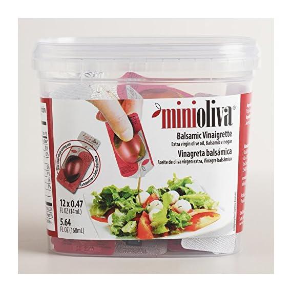 Mini Olivia Balsamic Vinegars 12 Pack (5.96 oz) 1 Made of balsamic vinegar and extra virgin olive oil 12-Pack Shake before using