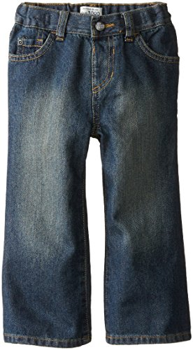 The Children's Place Little Boys and Toddler Bootcut Jean, Dry Indigo, 2T