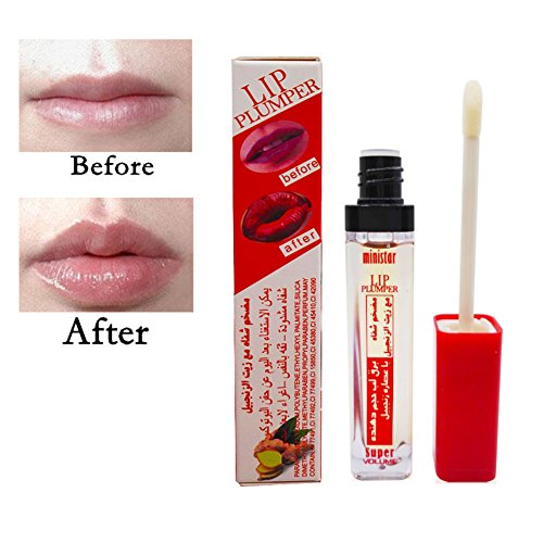 - Lip Plumper Lipgloss with Ginger Oil, Waterproof Long Lasting Super Volume Lip Gloss Makeup Lips Plump Lip Balm Liquid Lipstick