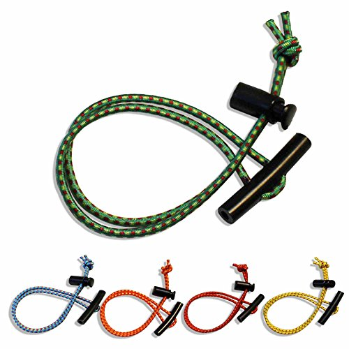Set of 5 T Bungee Fastener Systems With Toggle for Securing Items While Traveling, Boating, Camping, Canoeing, Etc - Choose From 5 Colors ()