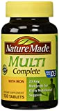 Cheap Nature Made Multi Complete with Iron, 130 Tablets (pack of 3)