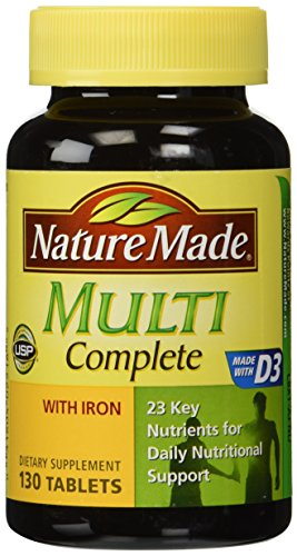 Nature Made Multi Complete with Iron, 130 Tablets (pack of 3) Multi Organ