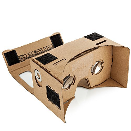 D-scope Pro Google Cardboard Kit with Straps 3D Virtual Reality Compatible with Android & Apple Easy Setup...