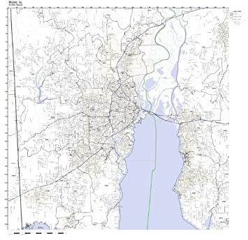 Amazon.com: Mobile, AL ZIP Code Map Not Laminated: Home ...