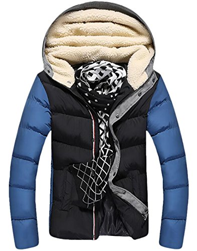Thicken EKU Winter US Fur Jackets XS Athletic Warm Down Black Coat Mens Hood AwxASIBq