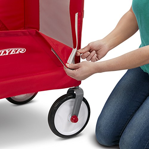 51OmN9vl77L - Radio Flyer 3-In-1 EZ Folding Wagon with Canopy for kids and cargo