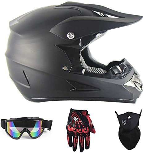 Color : A-L LYN Motocross Off Road Casco Gafas de regalo M/áscaras Guantes FOX Motociclismo Racing Casco integral para hombre y mujer