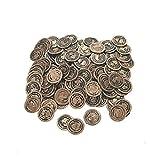 Plastic Pirate Coins (72 Ct)