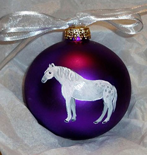 Percheron Draft Horse Hand Painted Christmas Ornament - Can Be Personalized with Name (Christmas Draft Horse)