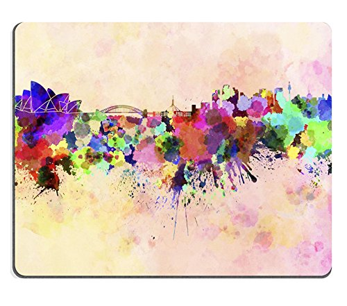 liili-mouse-pad-natural-rubber-mousepad-image-id-24504855-sydney-skyline-in-watercolor-background