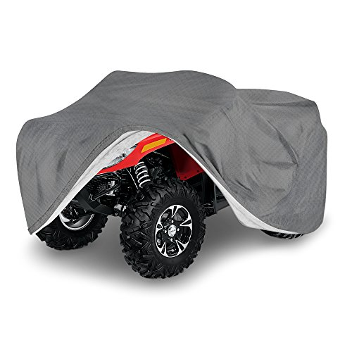 OxGord ATV Cover - Economy Outdoor 4 Layers - Ready-Fit Semi Glove Fit - Fits up to 77 inches ()