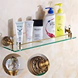 LAONA All European antique bronze ribbon drill, bathroom fittings, paper reel, soap box,Rack 1