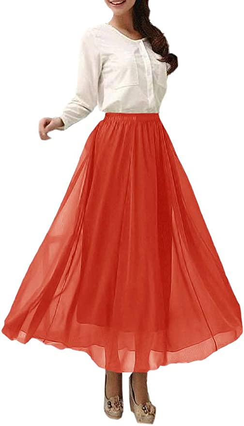 Retro Long Maxi Skirt