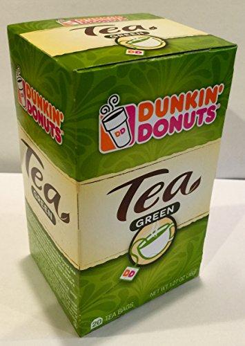 20 Bag 1 Box (Dunkin' Donuts, 1 BOX of 20 Tea Bags - Green Tea, 1.27 OZ (36g) /)