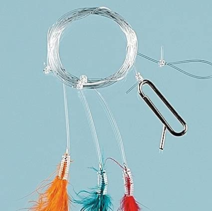 6 Hooks Min of 23 Hook Size 2//0 Packs of MULTI COLOUR FEATHERS Sea Fishing Lure Rig 17-1280-6-2//0-25 FLADEN - Excellent Deep Sea Rig for Herring and Mackerel