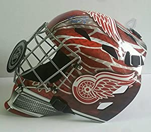 Dominik Hasek Autographed Signed Full Size Goalie Mask Detroit Red Wings - JSA Certified - Autographed NHL Helmets and Masks