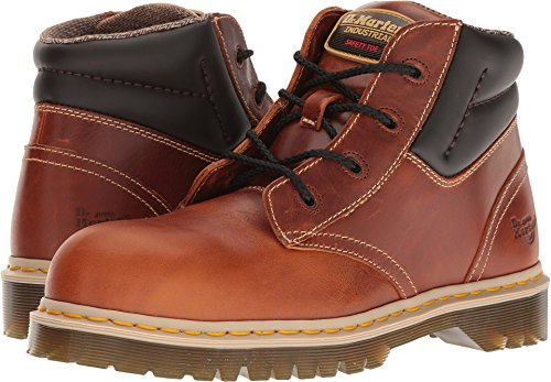 Classic 6 Eye Boot - Dr. Martens Unisex Icon 7B09 Steel Toe 4 Eye Boots, Brown Leather, 6 M UK, M7/W8 M US