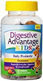 Digestive Advantage Kids Daily Probiotic Gummies, Natural Fruit, 80 Gummies (Pack of 2)