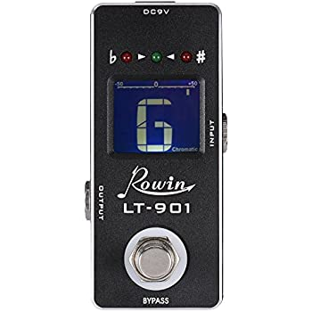 ammoon mini chromatic guitar tuner pedal effect true bypass lcd display musical. Black Bedroom Furniture Sets. Home Design Ideas