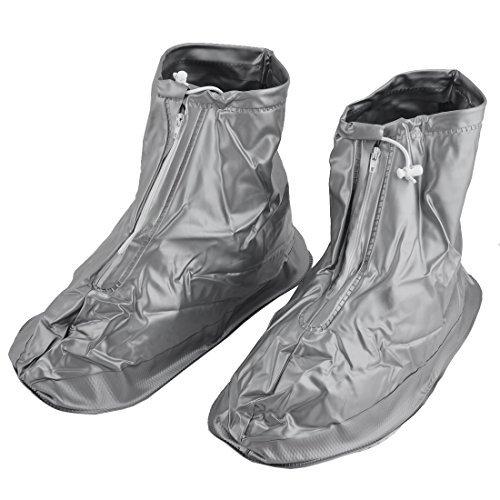 eDealMax Homme PVC rutilisable eau Chaussures de schage rsistant Couvre-Chaussures ton Argent Paire XXXL