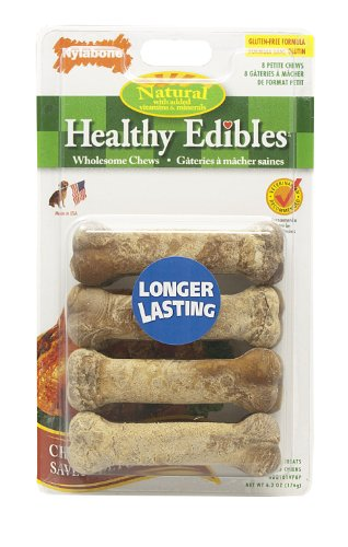 Nylabone Healthy Edible Chicken Bone for Pets, Petite, 8 Count Blister Pack, My Pet Supplies