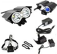 ETpower® 5000 Lumens XM-L U2 LED Bicycle Light & 6400mAh Battery Pack & Charger , 4 Modes Waterproof L