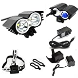 ETpower® 5000 Lumens XM-L U2 LED Bicycle Light & 6400mAh Battery Pack & Charger , 4 Modes Waterproof LED Bike Lmap headLight Super Bright Lighting Lamp for Outdoor Sports Like Cmaping Hiking(BLACK) Review