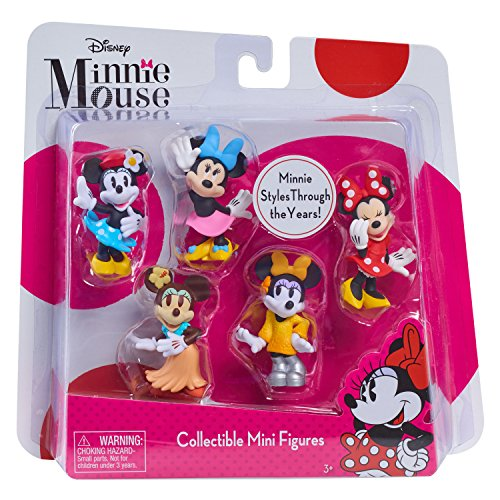 1970s Mini (Just Play Minnie Mini Figure Set 5 pk Figures Toy Figure)
