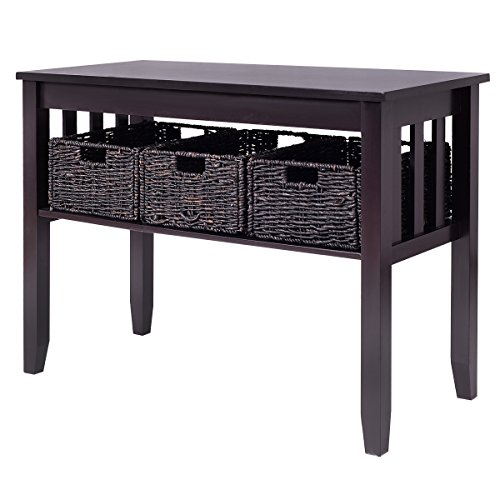 storage table with baskets - 4