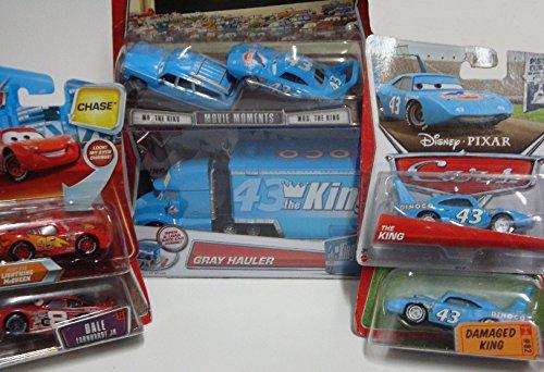 Mattel Pixar World Of Cars Diecast Bundle: Gray {King Hau...