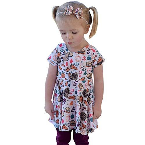 Baby Girls Halloween Christmas Thanksgiving Pumpkin Dress Toddler Party Dress -
