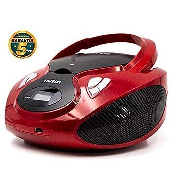 Lauson Radio y Reproductor de CD Portátil con Bluetooth y USB | Radio Am/FM