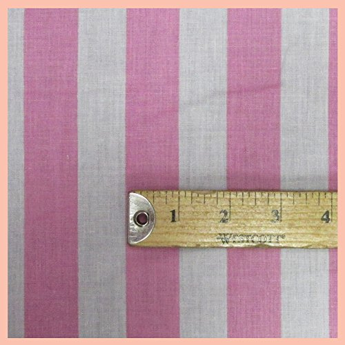 Stripe 1 inch Poly Cotton Fabric 58 inches width sold by the yard (Fabric Width)
