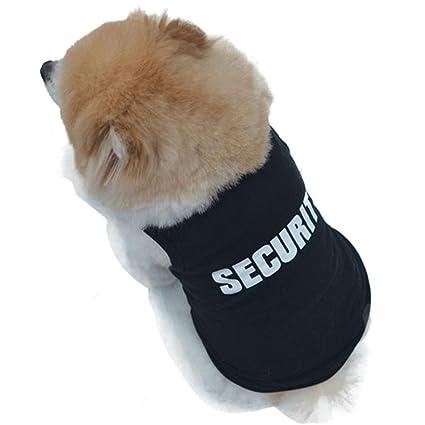Pequeño Perro Ropa Verano Camiseta de Algodón para Pequeño Chihuahua Yorkshire Mascota Cachorros (XS, Negro)