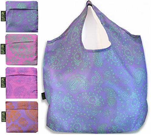 Nae's Earth Reusable Shopping Bags - Pastel Paisley 4 Pack (The Best Nae Nae)