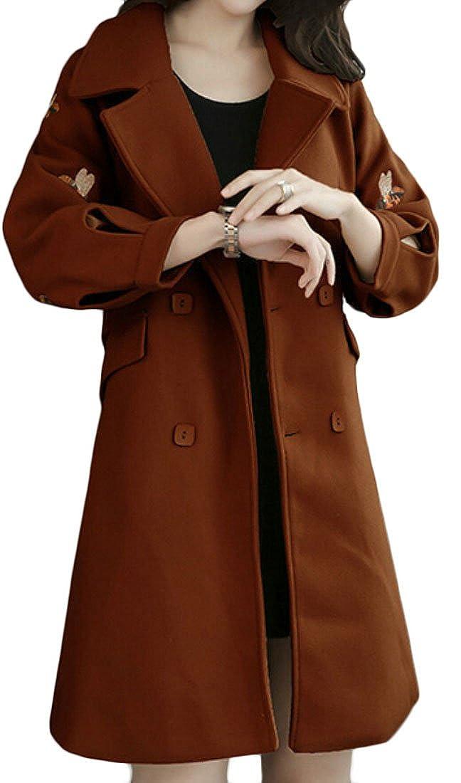 1 sull Women's Winter DoubleSided Wool Trench Coat Outwear