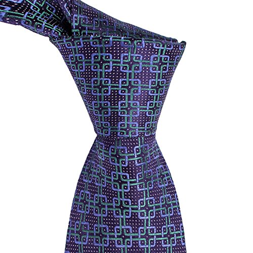 - Dark Purple Tie with Green and Blue Medallion Pattern by Tie This | Burlington