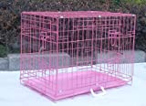 Cheap Pink 48″ Pet Folding Dog Cat Crate Cage Kennel W/PP Tray LC