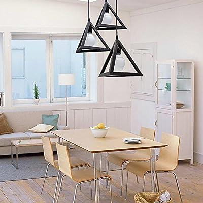 Wanunion Vintage Industrial Triangle Black/White Pendant Light Chandelier Ceiling Lamp