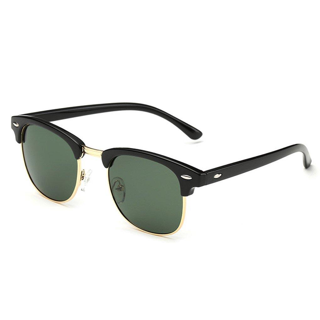 QHGstore Uomini Donne Sport Occhiali da sole polarizzati occhiali di protezione UV di vetro di Sun Brilliant Black / Nero