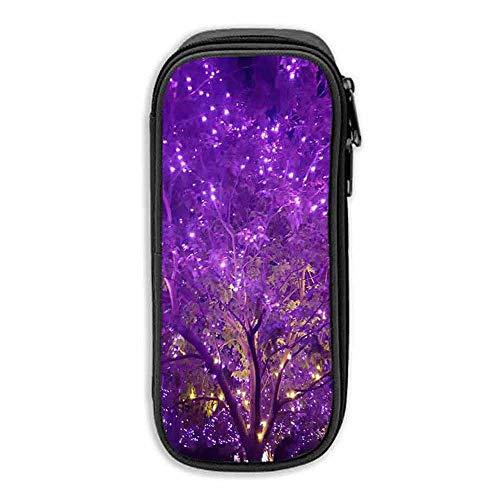 Pencil Case Halloween Tree Spooky Light Purple Wdw Disney Evil Winter Forest ipad pro 10 5 case with Pencil Holder]()