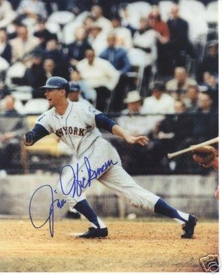 Signed Jim Hickman Photo - New York Mets 8x10 W coa - Autographed MLB Photos All Star Cards and Collectibles