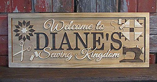 Personalized Family Name Sawing Room Signs CARVED Custom Wooden Sign Last name Wedding Gift Established Anniversary custom personalized sign
