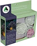 Algreen 5-Pack Floating LED Rose Lights for Ponds/Water Features and Gardening