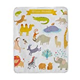 Vantaso Blankets Throws Soft Africa Animals Kids Girls Boys 50x60 inch