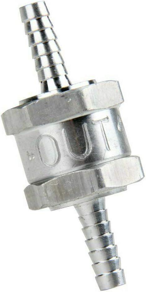 PQYRACING 1//2 12mm Non Return One Way Fuel Check Valve Aluminium Alloy Petrol Diesel