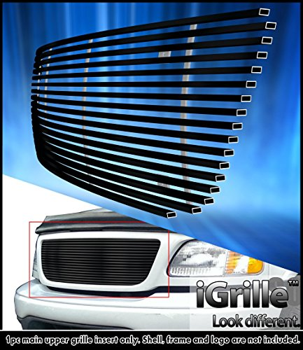 eGrille Matte Black Stainless Steel Billet Grille Grill Fits 99-03 Ford F-150